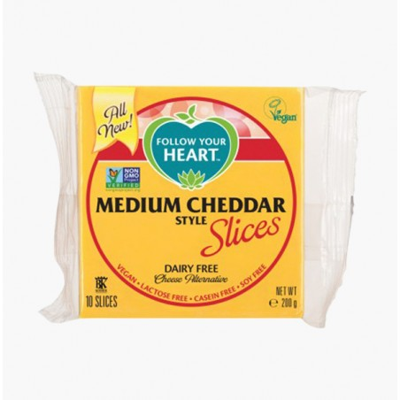 TRANCHES CHEDDAR 200G - FOLLOW YOUR HEART