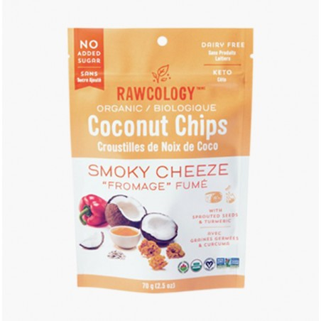 CHIPS DE COCO SMOKY CHEESE 90G - RAWCOLOGY