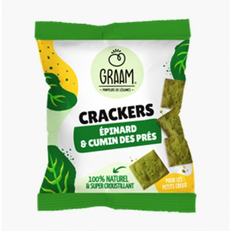 CRACKERS EPINARDS & CUMIN DES PRES 30G - GRAAM