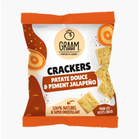 CRACKERS PATATE DOUCE & PIMENT JALAPENO 30G - GRAAM