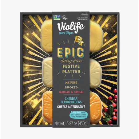 PLATEAU FROMAGES FESTIF CHEDDAR EPIC - VIOLIFE